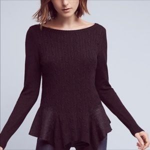 Anthropologie Knitted & Knotted Audrey Sweater